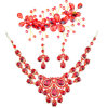 Red Crystal Jewelry for Women Decoration