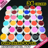20204h, Cheap Pure Color UV Gel 36 Colors UV Pure Color Gel