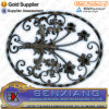 Garden Decor Metal Gate Decorative Wrought Iron Rosettes Fence Flower Panels