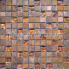 Copper Mosaic Mixed Glass Tile for Kitchen Backsplash A6YBG018