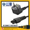 Europe VDE Approval EU 10A 250V AC Power Cord Schuko Plug + C5 Connector H05VV-F
