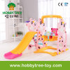 2017 Deer Cheap Style Lovely Kids Indoor Slide and Swing (HBS17004D)