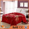 Super Soft Thick Flowers 2 Ply Wedding Red Raschel Blanket