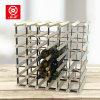 42 Bottles Pre-Assembled Metal Wood Storage Wine Display Racks