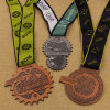 Custom Antique Metal Crafts Medallion with Sublimation Ribbon