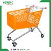 210L Supermarket Plastic Shopping Trolley Cart