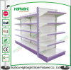 Plain Bacl Panel Metal Gondola Supermarket Shelf