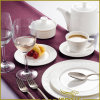 7 PCS White Porcelain Tableware with Strong Exotic Feelings