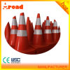 Different Colored 2 Reflective Tapes PVC Traffic Cone