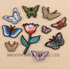 Wholesale Promotional Customized Fashion Handmade Butterfly Embroidery Patch Clothing Flower