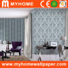 Decorative Damask PVC Wall Paper with Flowers Stripe