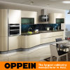 Italy Design Oppein Light Golden Acrylic Wooden Kitchen Cabinets (OP14-057)