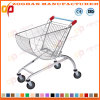 Metal Supermarket Shopping Arc Shape Carts Trolley (ZHT278)