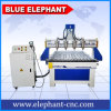 Ele 1325 4 Axis CNC Router Engraver Machine, 3D CNC Wood Milling Machine with 4 Water Cooling Spindles