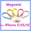 Flat Magnetic Lightning 8 Pin USB Sync Data Charging Cable for iPhone 5 5c 5s iPad 4 iPad Mini
