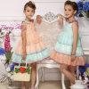 Bonnybilly 2015 Fashion Two Colors Ruffled Children Girl Wedding Dress