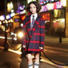 Stylish Design Plaid Winter School Uniform Wool Blazer