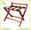 Hotel Wooden Foldable Luggage Rack with Back Bar