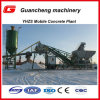 Yhzs25 Mobile Concrete Batching Plant with 100ton Cement Silo