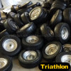 Turf Lawn & Garden Solid Rubber PU Foam Wheels 13X6.50-6