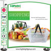 Cheap Clear Plastic Supermarket Shopping Basket