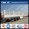 Cimc Huajun Double-Stake Cargo Semi Trailer with Competitive Price