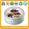 Metal Food Storage Box Round Cookies Tin for Gift Packing