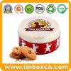 Round Gift Metal Bakery Tin Box for Christmas Tin Case