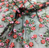 2018 Spring New Arrival Flower Embroidery Lace Mesh Fabric for Dress