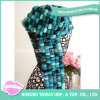 Winter Novelty Patterns Acrylic Wool POM-POM Yarn Knitted Scarf