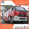 6X4 Tianlong 12000liters Dry Podwer Fire Truck Mounted Crane