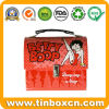 Lunch Tin Box with Handle and Clasp Latch for Gift Packaging