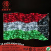 LED 220V 24vnational Flag String Rope Pole Light for Holiday Decoration.