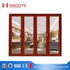 2017 Modern Design Heavy Duty Aluminum Folding Door with Tempered Glass