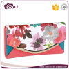 2017 Ladies Purses with Latest Design, Envelope Flower Print PU Purse Custom