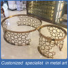 New Style Stainless Steel Mirror Titanium Golden Round Tea Table