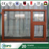UPVC/PVC Wooden Color Double Glazing Tilt and Turn Window for Building