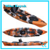 Sit on Top Sea Fishing Kayak with Pedals Sail Boat with Rudder System
