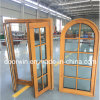 Factory Sale Price Finished Grille Arched Top Casement Window Made of Solid Pine Wood