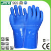 PVC Coated Industrial Chemical Resistant Safety Work Gloves with Cotton Knitted Seamless Linings