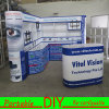 Aluminum Material Curve Trade Show Exhibition Booth Display Stand