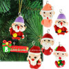 Hot Sale 6PCS Christmas Tree Hanging Decoration Christmas Gift Santa Claus Charm Polymer Clay Pendant