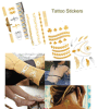 fashion Body Waterproof Metallic Temporary Tattoo Stickers