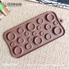 Qinuo Manufactory Button Shape Food Silicone Chocolate Mold for christmas