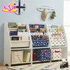 New Style Modern Kids Wooden Bookshelf with Bins W08c247