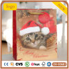 Paper Bag, Christmas Cute Kitten Paper Bag, Gift Paper Bag