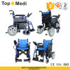 Topmedi Aluminum Folding Lithium Battery Power Electric Wheelchair