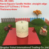 4mm Red Straight Edge Glass Candle Holder