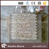 Cheap Strip Pattern Marble Mosaic Tiles for Bathroom and Kitchen Wall