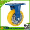 Rigid Yellow PU on Cast Iron Core Wheels Caster